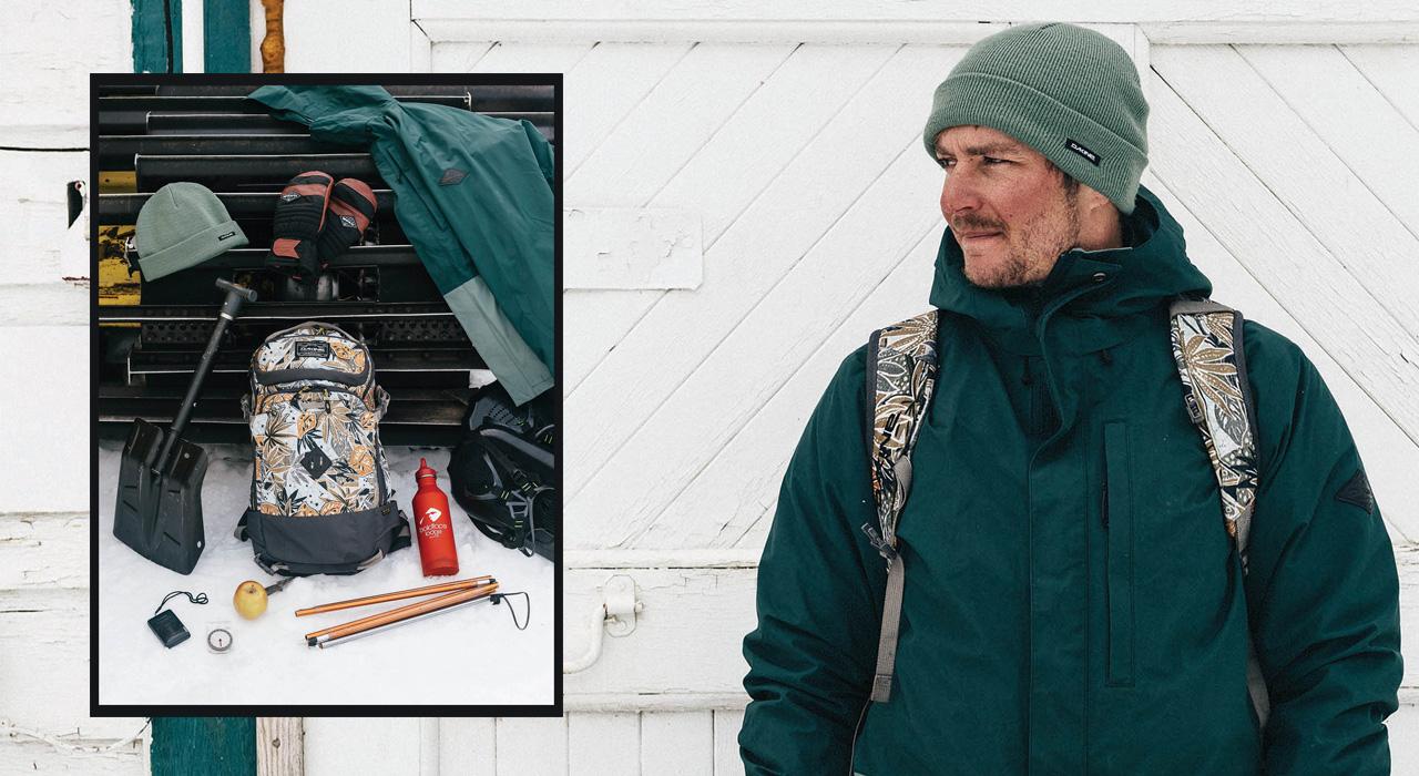Jason Robinson mit seinem aktuellen Setup von Dakine | © Dakine