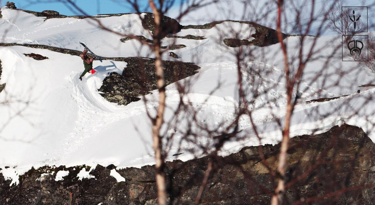 Toni Kerkela an einem wohlbekannten Spot in Riksgränsen | © PMP