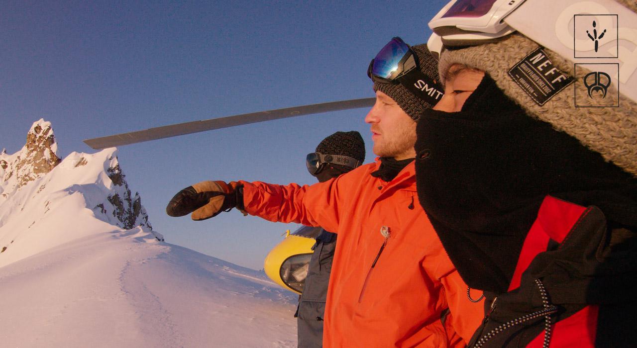 Gigi, Elias & Kazu Kokubo checken ihre nächste Line in Alaska aus | © PMP