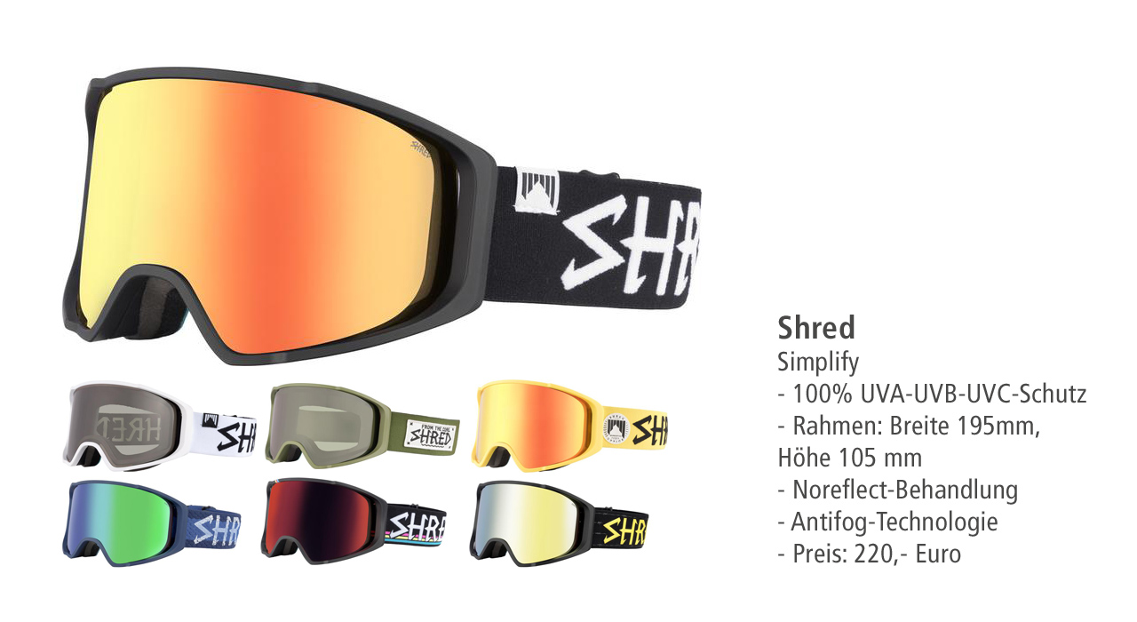 Shred Optics: Simplify Goggle