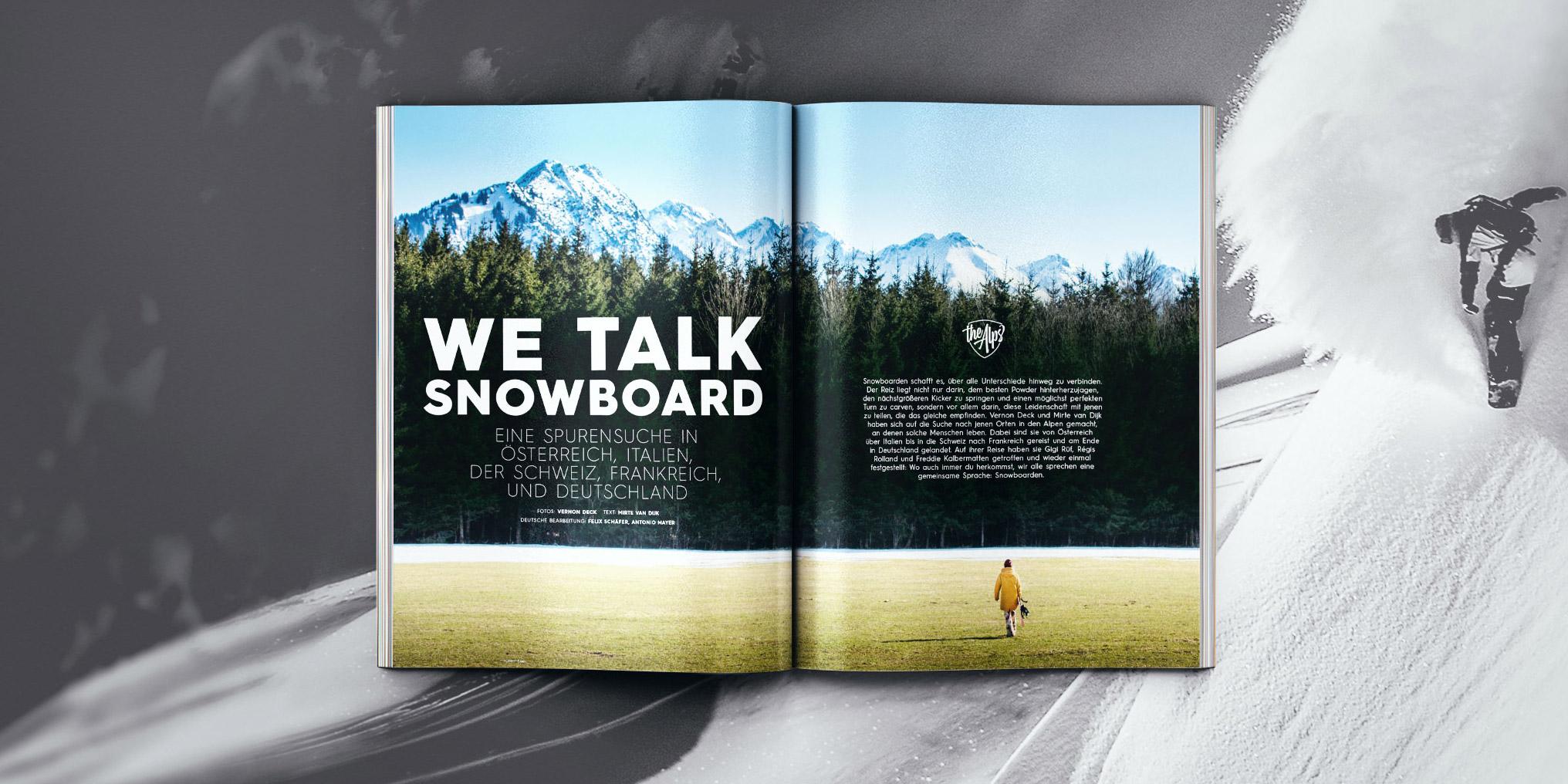 Vernon Deck und Mirte van Dijk auf einer Reise durch die Alpen