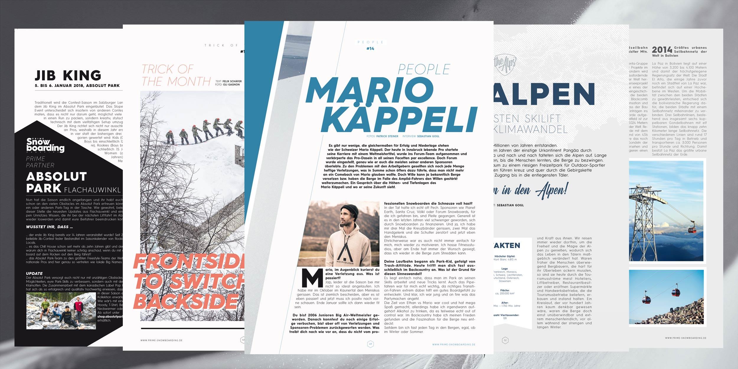 Eine Menge Geschichten aus und über die Alpen