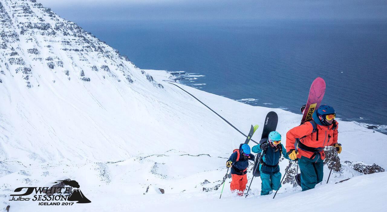 Earn your turn –das gilt auch beim Aufstieg auf den Snaefellsjökul |©Julbo/Klaus Polzer