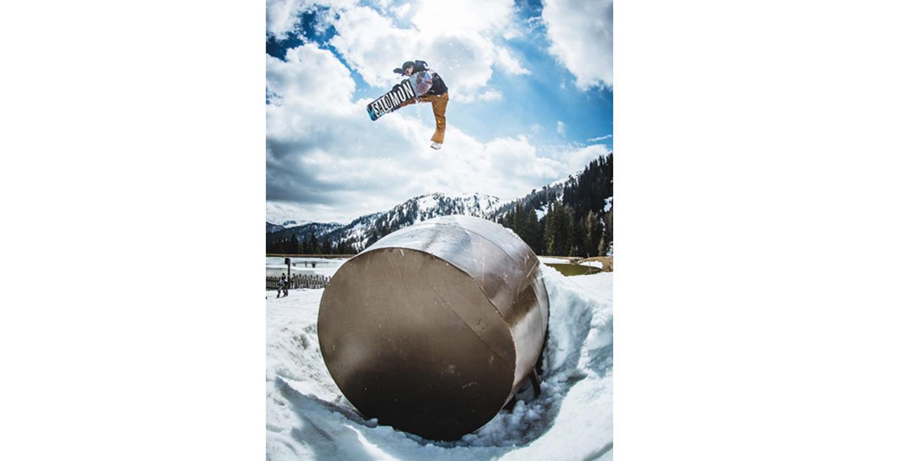 Toni Kerkelä kommt weit aus dem Norden, um sich im Absolut Park die One-Foot-Ideen rauszufahren |©Absolut Park/Markus Rohrbacher