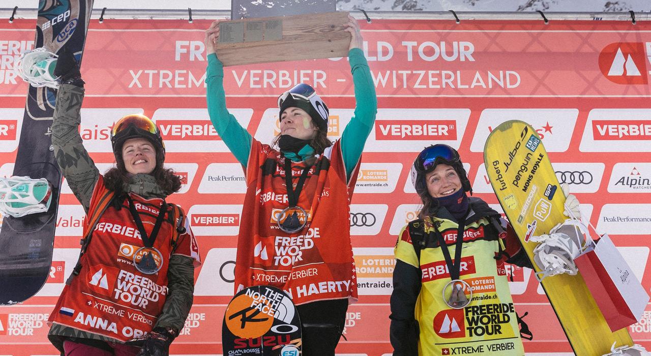 Anna Orlova, Marion Haerty, Manuela Mandl  ©D.Daher/Freeride World Tour