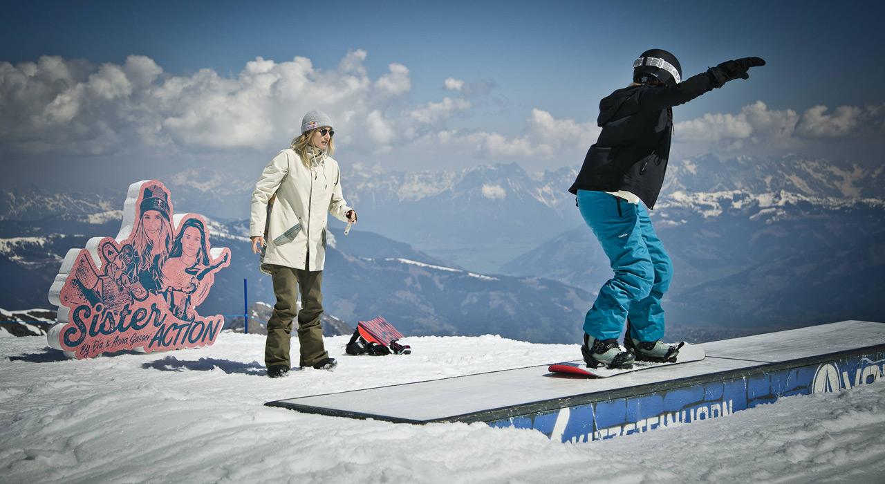 Man bekommt nicht oft die Gelegenheit, Tipps von einer der besten Snowboarderinnen zu bekommen |©Red Bull