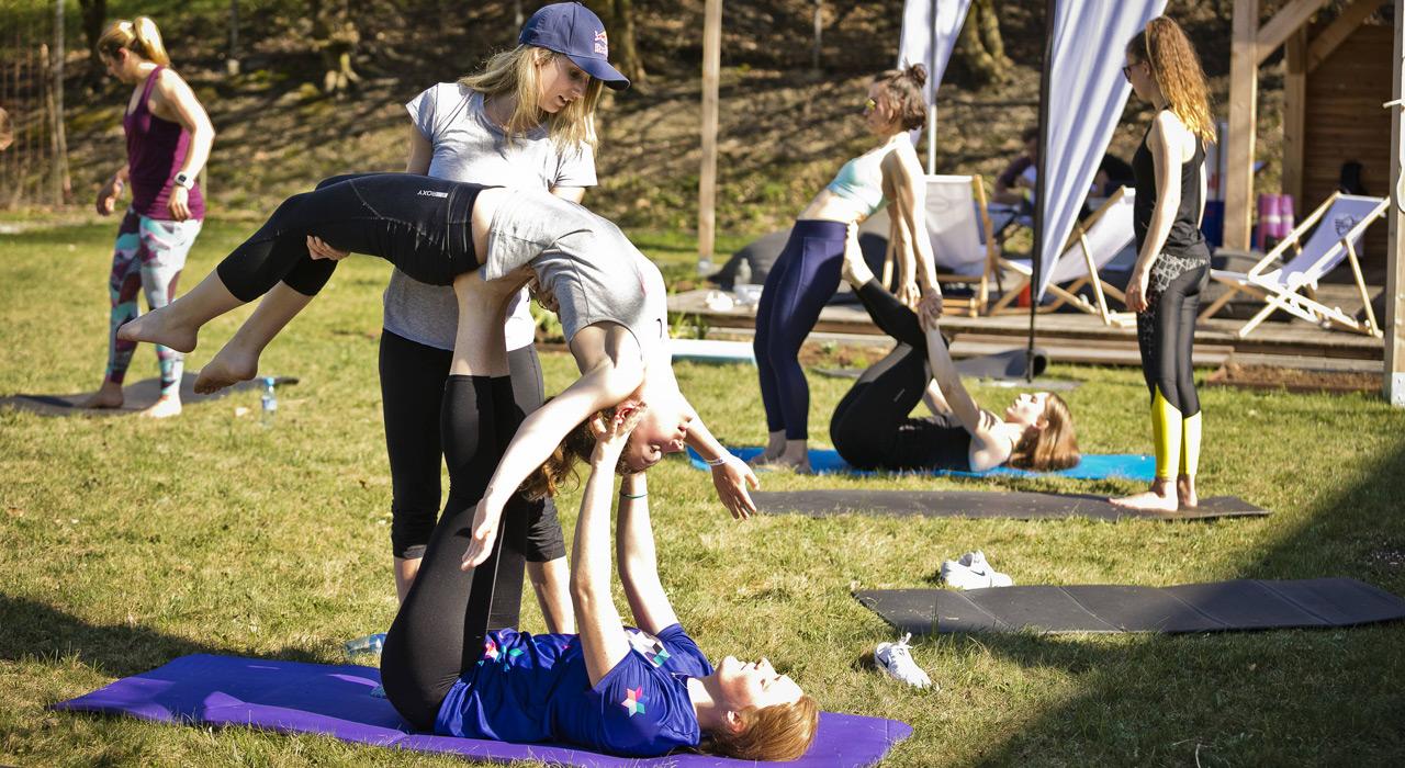 Akrobatik-Übungen standen ebenfalls auf dem Programm |©Red Bull