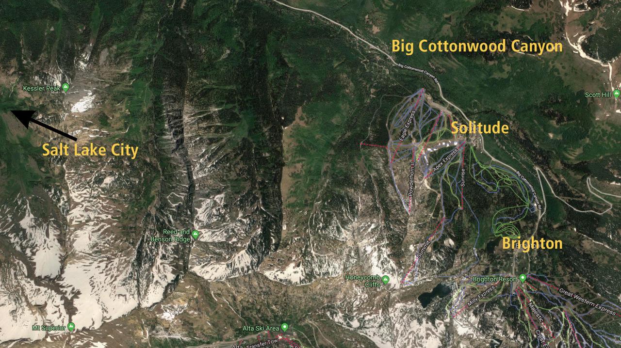 Die Bone Zone nicht weit der Stadtgrenze von Salt Lake |©Google