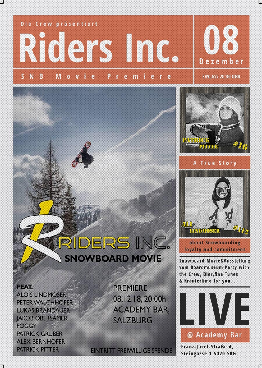 Die Riders Inc. Crew feiert am 8.12. die Premiere ihres neuen Movies |©Riders Inc.