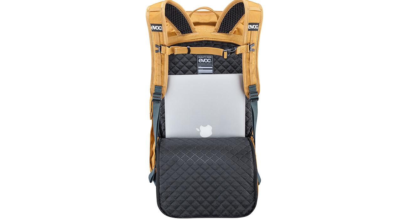 Platz für deinen 15'' Laptop … |©Evoc