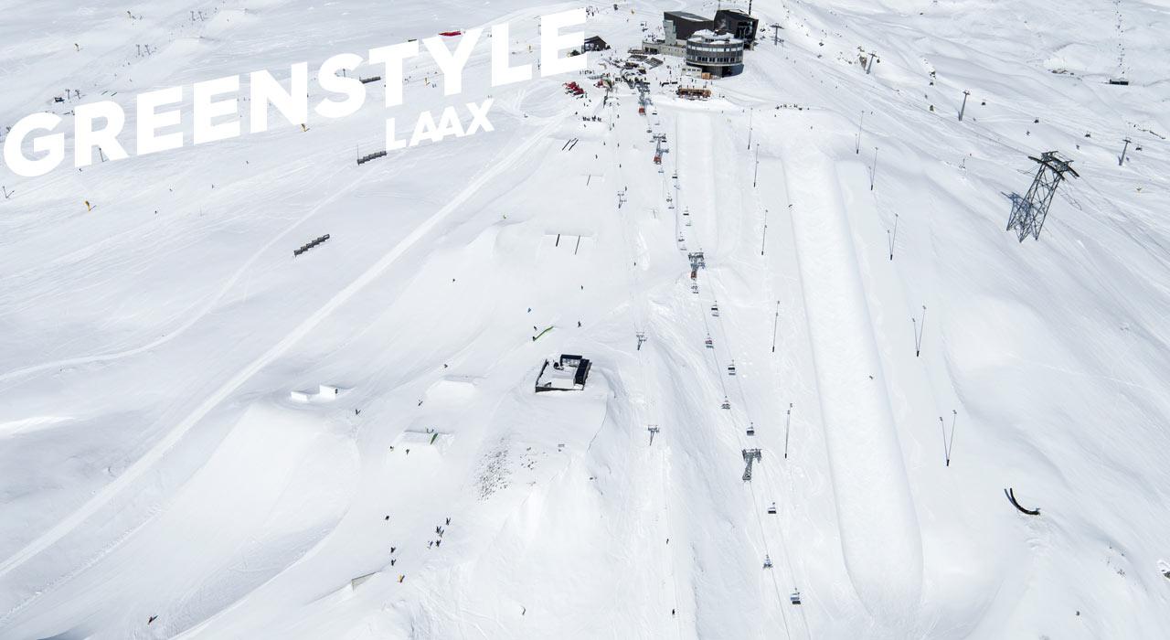 Die Superpipe kann benötigt dank Erdarbeiten nun viel weniger Schnee |©LAAX