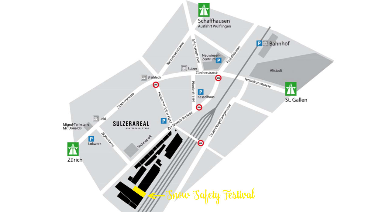 Lageplan Snow Safety Festival Winterthur