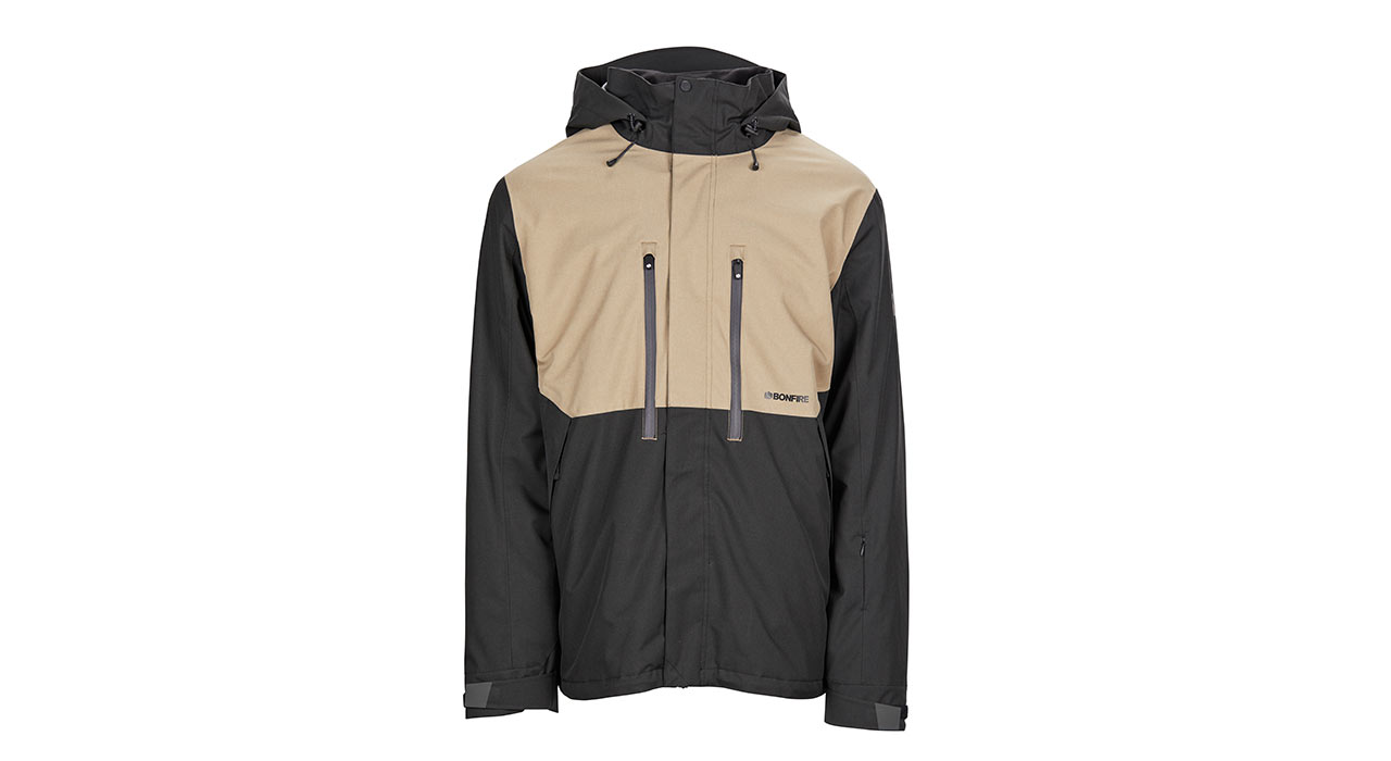 Firma 3-in-1 Stretch Jacket (Black/Khaki) | © Bonfire Outerwear