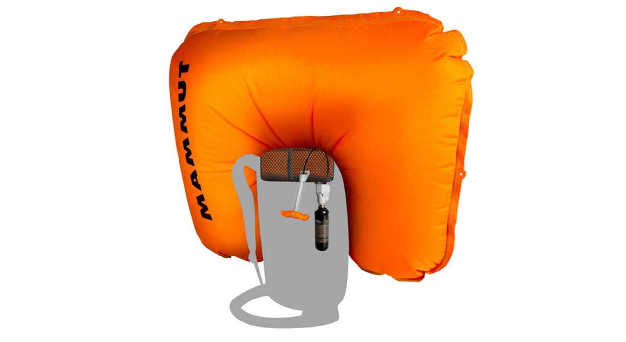 Der 150-Liter-Airbag ist in ca. 3 Sekunden voll aufgeblasen |©Mammut