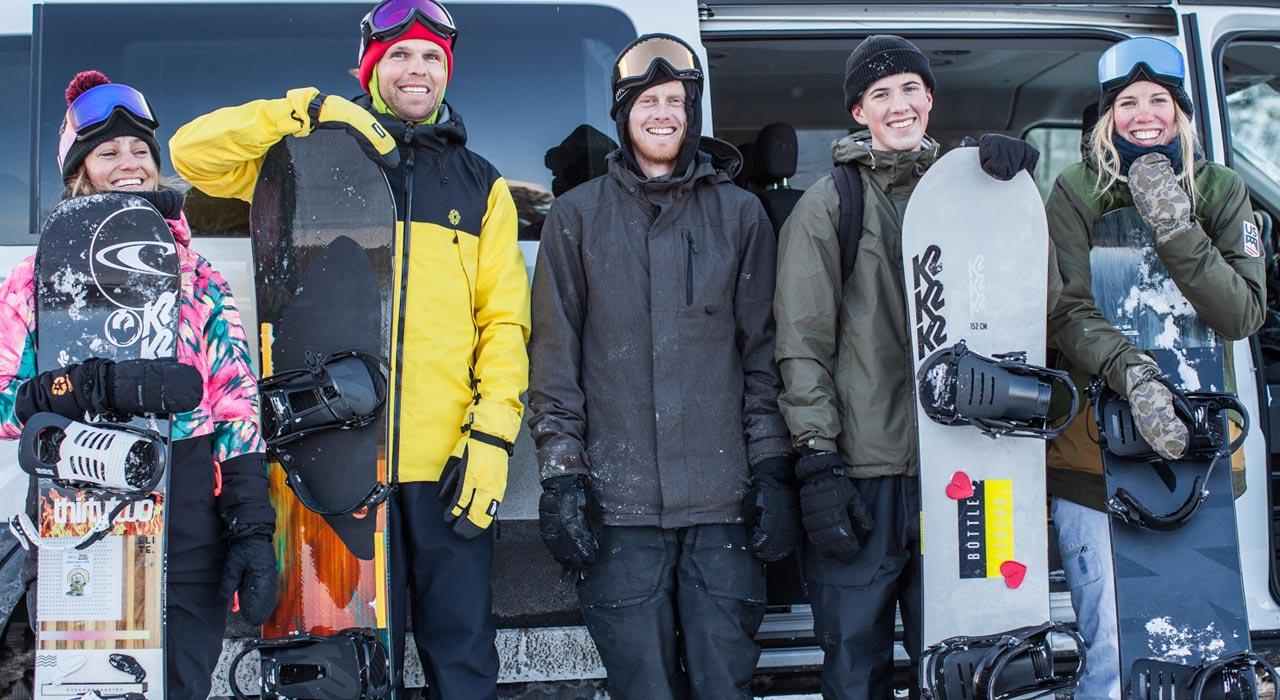 Melissa Riitano, Tim Eddy, Parker Szumowski, Nick Erickson & Zoe Kalapos |©K2 Snowboarding