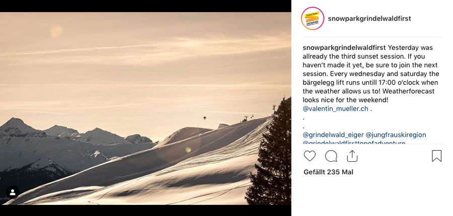 Sunset-Session in Grindelwald-First