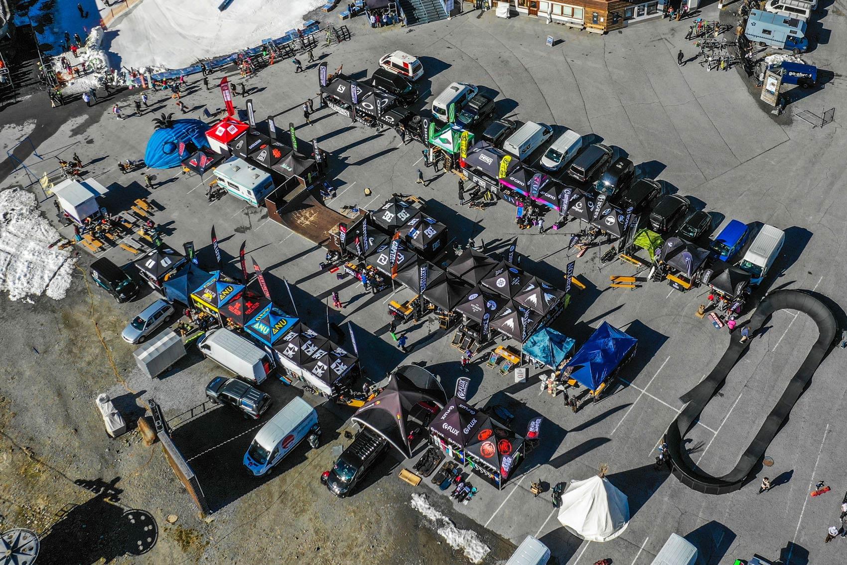 Das Testival Gelände von oben - Foto: Kaunertal
