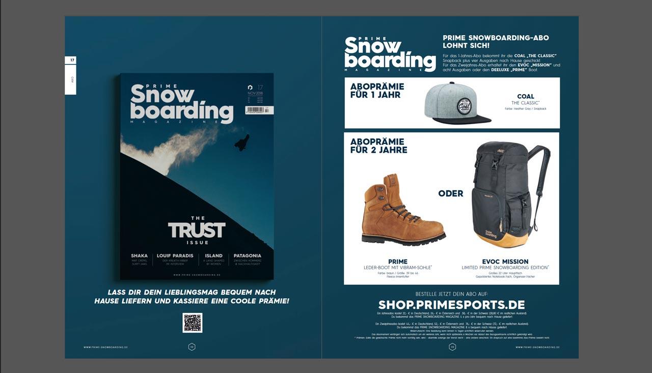 Prime Snowboarding Abo abschließen lohnt sich!