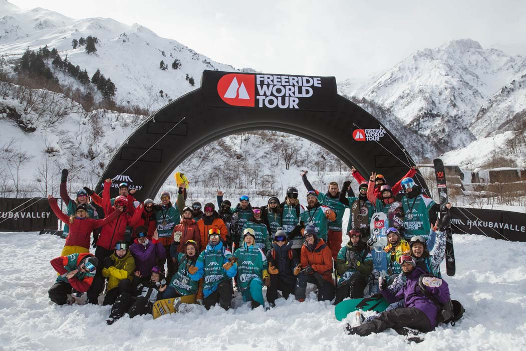 One big happy family! | © Freeride World Tour/J.Bernard