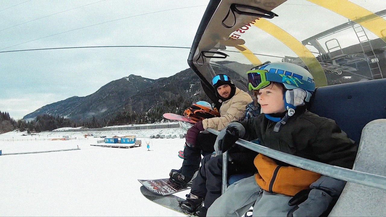 Marco Grilc mit Familie auf dem Weg zum Absolut Park |Absolut Park - Hot Spots der Alpen