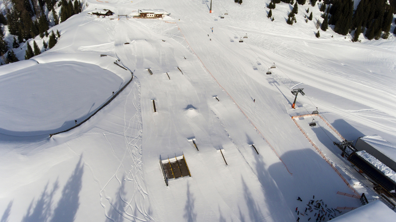 Der Jib Park im Absolut Park |©Absolut Park - Hot Spots der Alpen