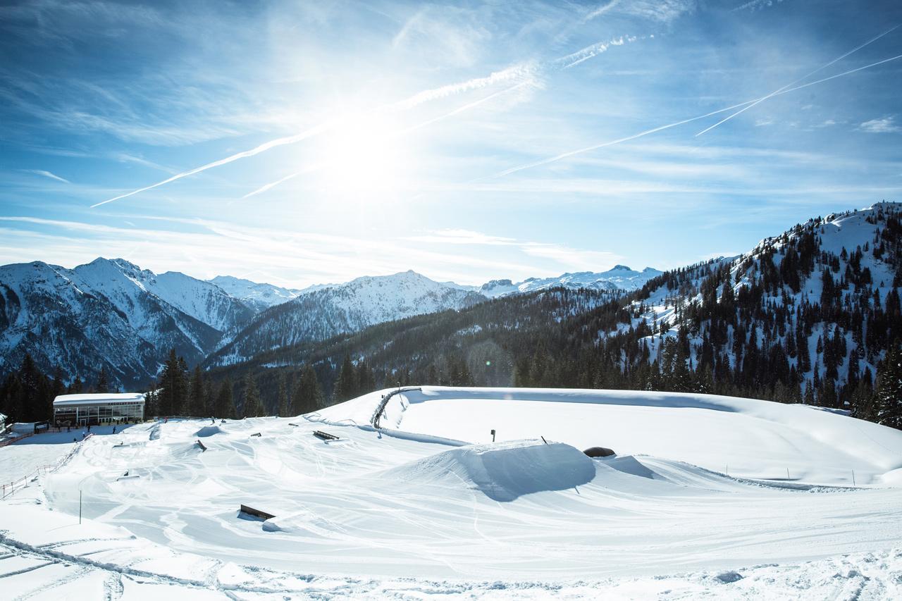 Der untere Teil des Absolut Parks mit Chill House |Absolut Park - Hot Spots der Alpen