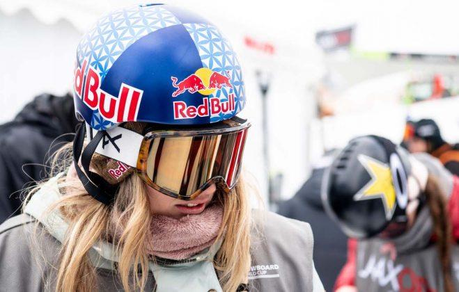 Anna Gasser verletzte sich leider im Training und konnte nicht mehr im Finale fahren |©LAAX