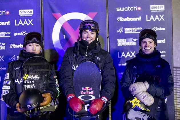 Yuta Totsuka, Scotty James, Jake Pates | © LAAX