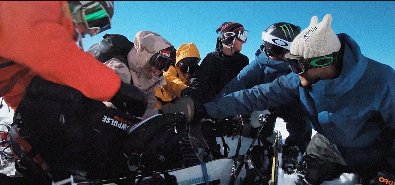 Die Heli Hogs aus dem Monster Team: Sage, Sebbe, Zak, Carlos, Sven & Ståle