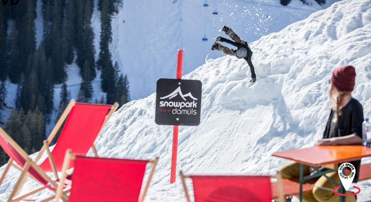 Snowpark Damüls- Die besten Skigebiete der Alpen