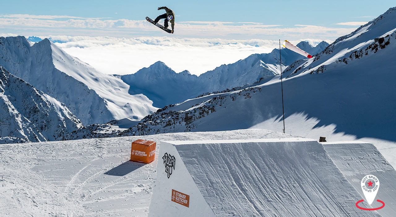 Zu den Prime Park Sessions versammelt sich die internationale Slopestyle-Elite zum Training | © Pally Learmond
