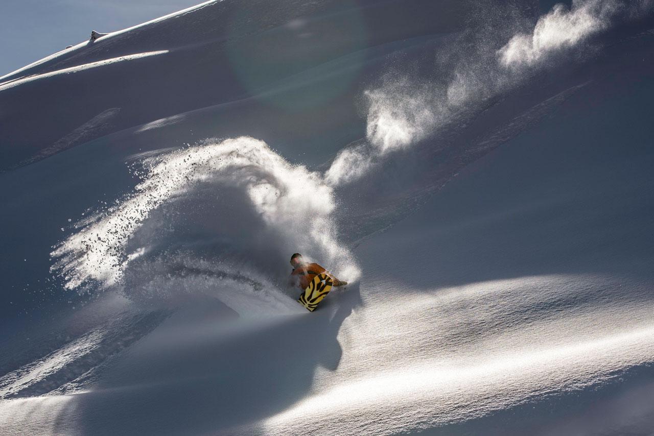 Nach wie vor zu hundert Prozent Snowboarder: Bernd im Paradies |©Matt McHattie