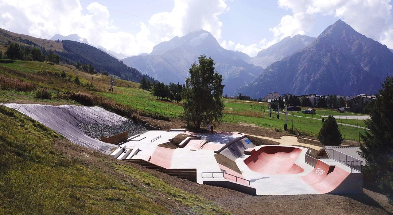 Der neue Skatepark in Les 2 Alpes |©Kevin Marchal