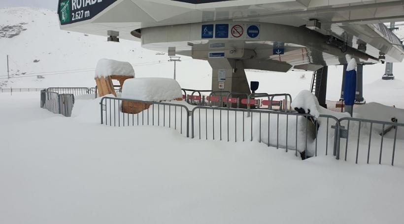 Stubaier Gletscher Schneefall