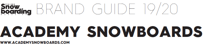 Academy Snowboards 2019| Brand Guide