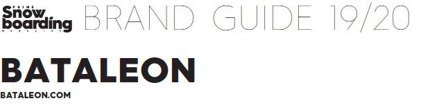 Bataleon Snowboards 2019/2020 Brand Guide