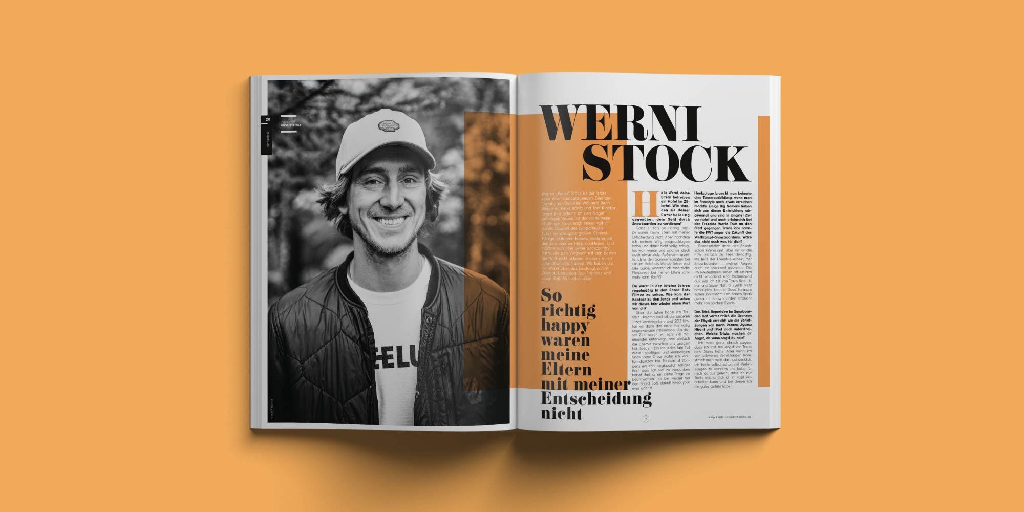 PRIME Snowboarding Printausgabe 20 - Werni Stock im Interview