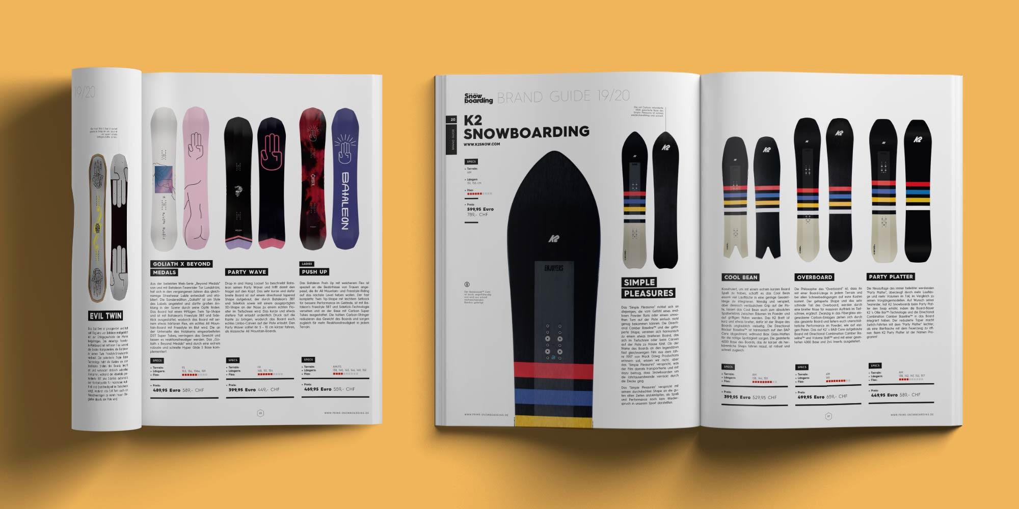 PRIME Snowboarding Printausgabe 20 - Brandguide