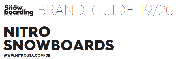 Nitro Brand Guide Prime Snowboarding
