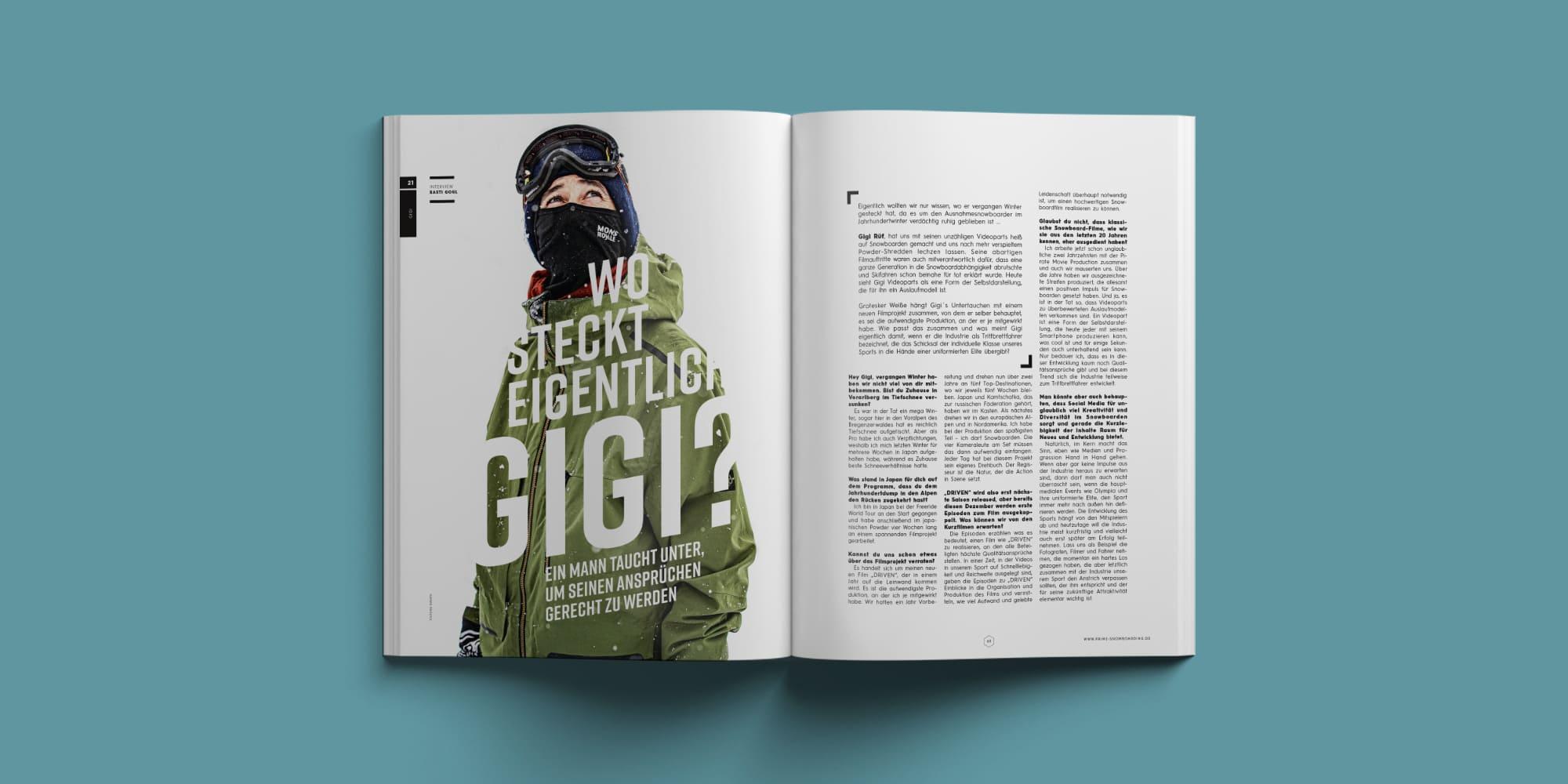 Gigi Rüf | Prime Snowboarding Ausgabe #21