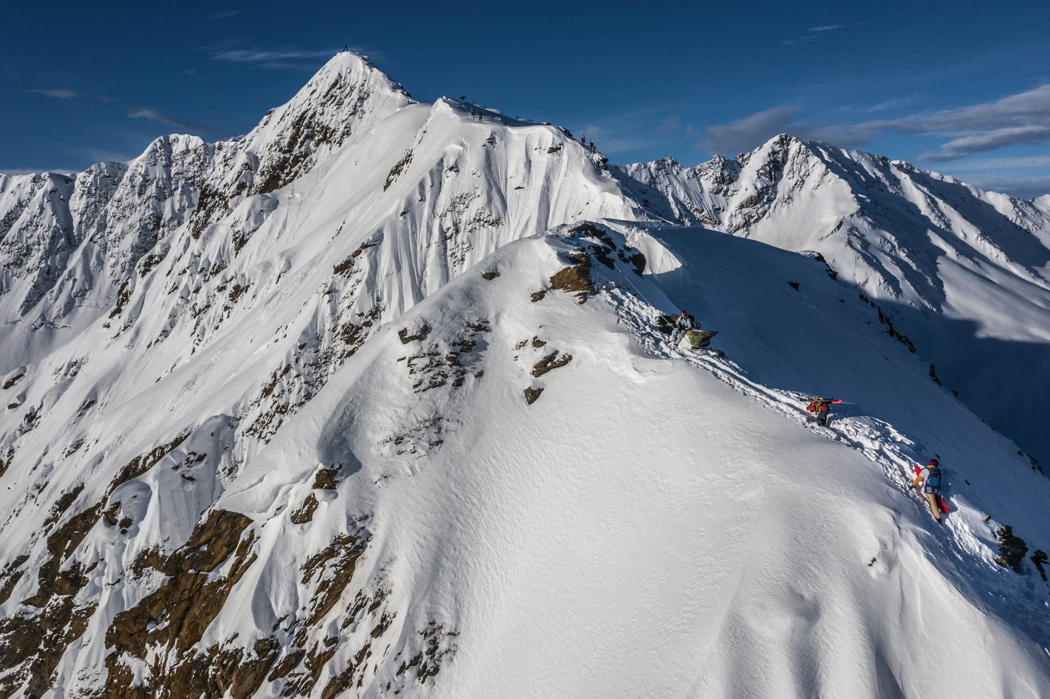 Die Quellspitze bietet viele Optionen für die Freerider. - Foto: Sebastian Marko