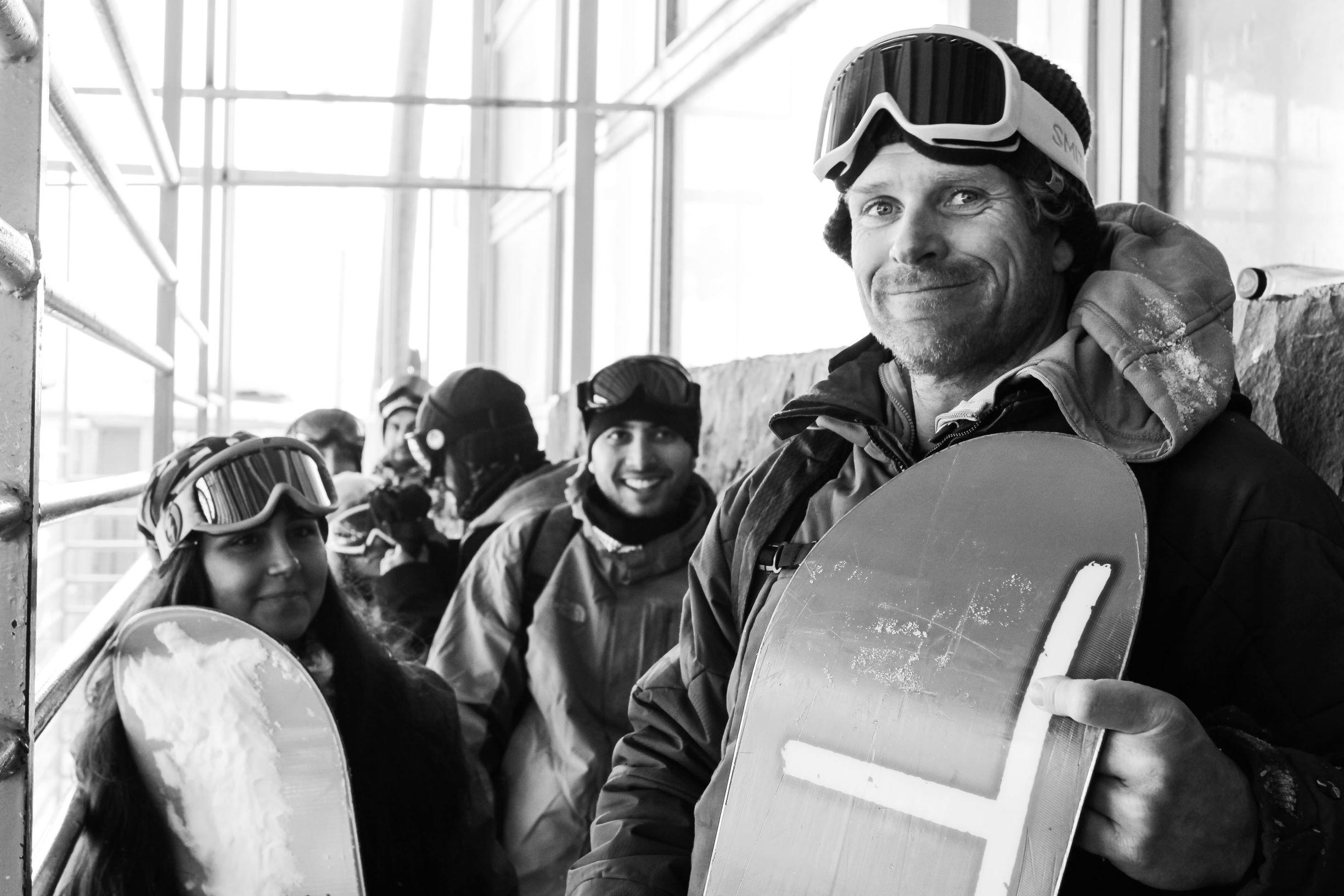 Snowboarden im Iran: Experimenke would go