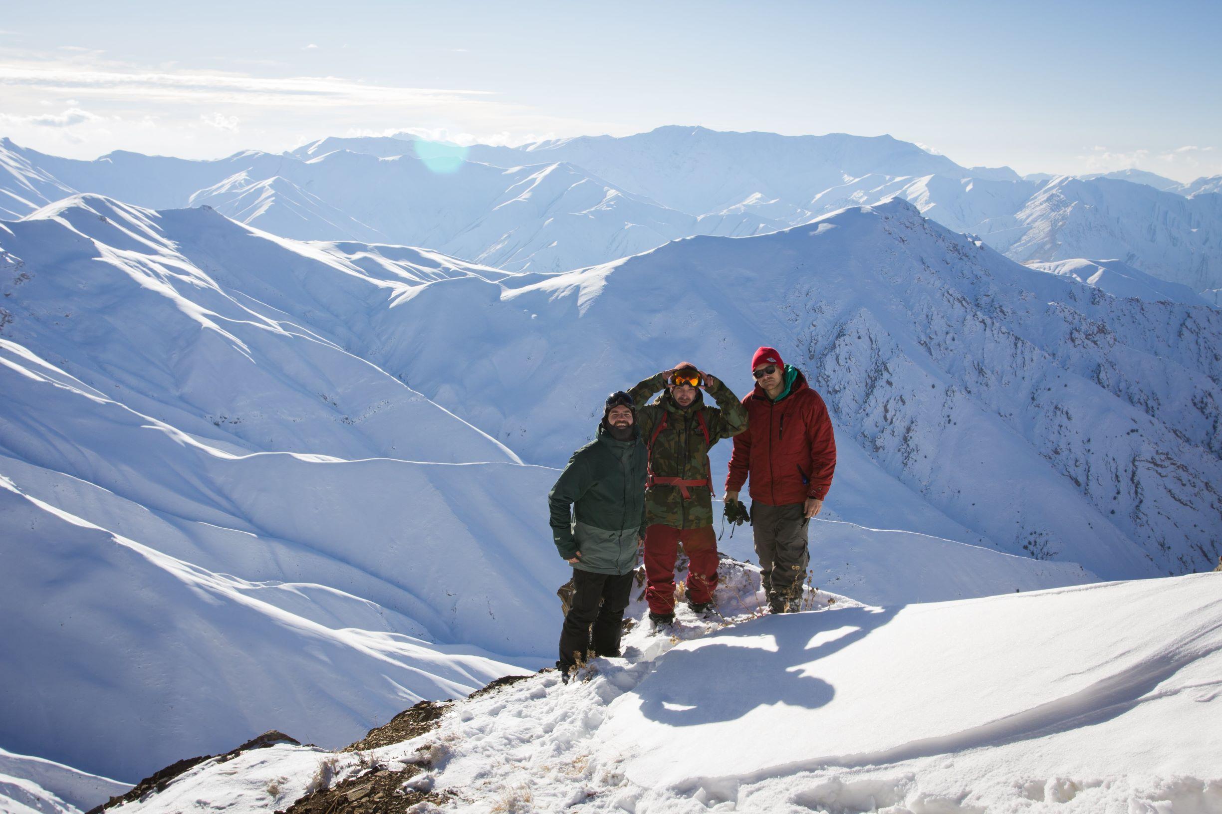 Menke, Staab und Schllameier auf dem Gipfel