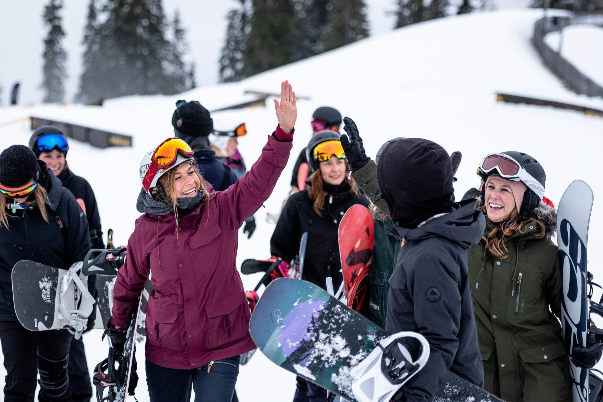 """Für alle Freestyle-Frauen: """"Slay Days"""" 2020 am Patscherkofel (Innsbruck) . Foto: Miriam Lott"""