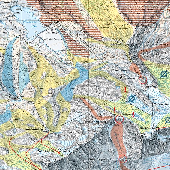 Topografische Karten helfen bei der richtigen Wahl der Abfahrten